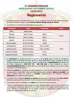 Carrera de Horcajo - Reglamento
