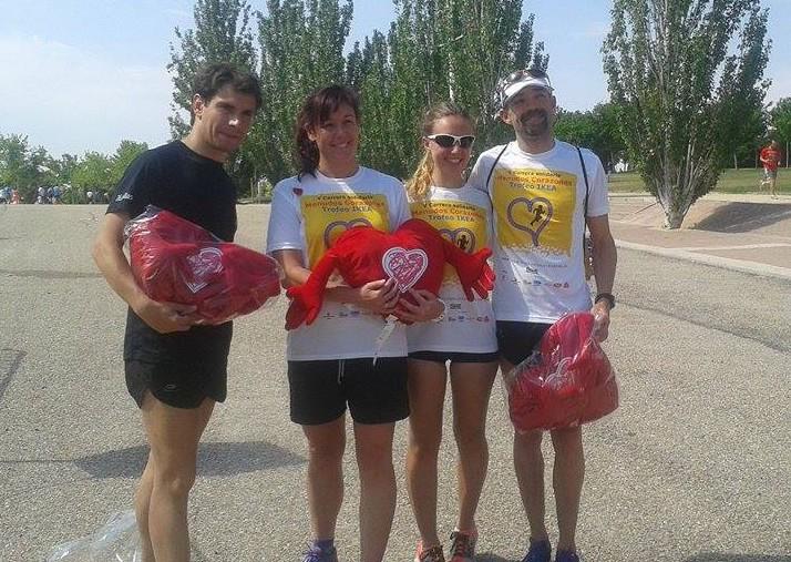 Fernando Díaz, Irene, Silvia y Fernando del Olmo